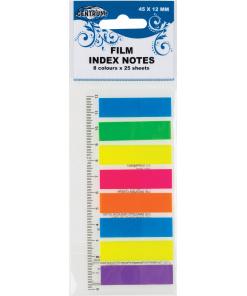 Zelfklevende Memo's 8 kleuren en liniaal