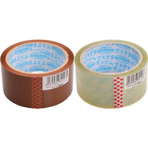 Actie transparante en bruine tape