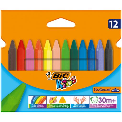BIC Kids Plastidecor Triangle 12 Kleurkrijten