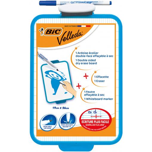 Bic Velleda Whiteboard Dubbelzijdig + Wisser + Stift