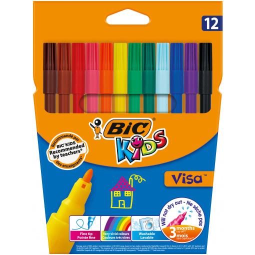 BIC Kids Visa 12 Viltstiften