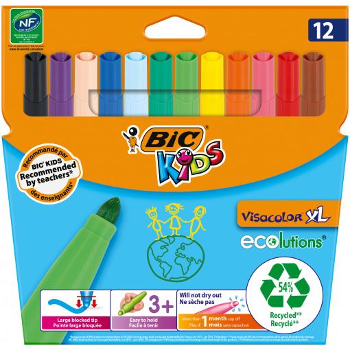BIC Kids Ecolutions Visacolor XL 12 Viltstiften